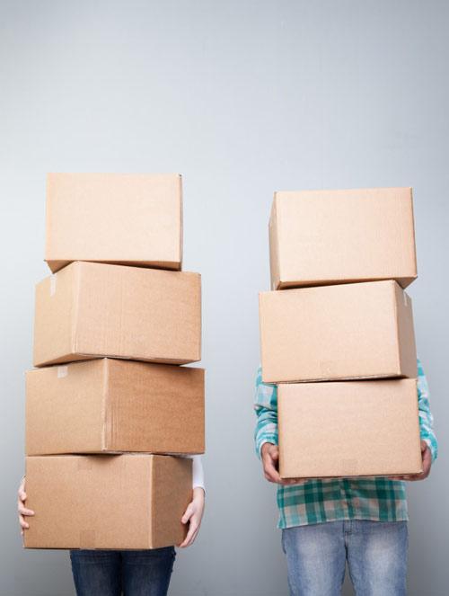 scatole per fare i traslochi